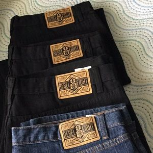 4 Pairs of Rebel Eight Jeans